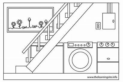 Basement Clipart Parts Outline Coloring Flashcards Clipartpanda