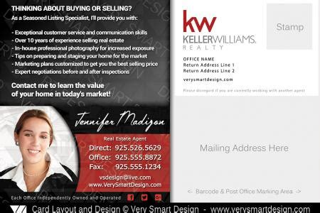 brand   listed keller williams postcards  real