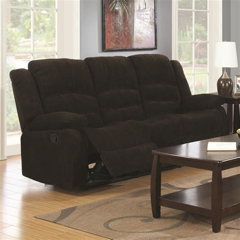brown fabric recliner sofa coaster 601461 brown fabric reclining sofa steal a sofa