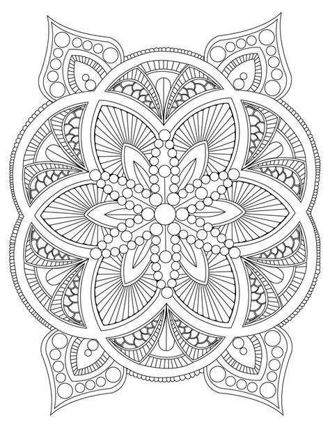 mandala to color abstract mandala coloring page for adults digital