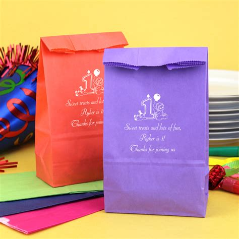 personalized      birthday party favor bags