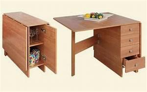 Table De Cuisine Avec Tiroir : designs cr atifs de table pliante de cuisine ~ Teatrodelosmanantiales.com Idées de Décoration