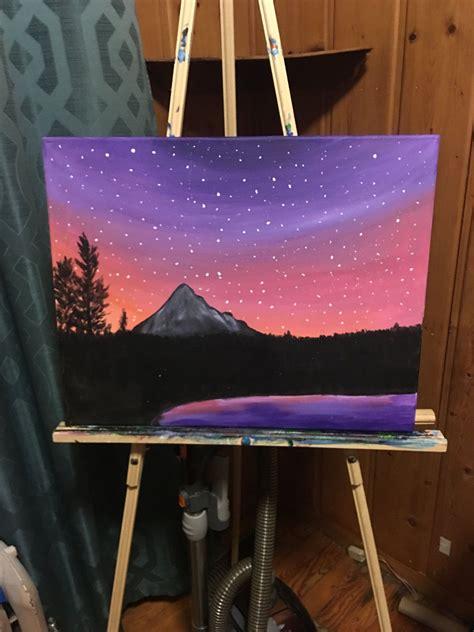 mountains  stars  terristerrificpaints  etsy
