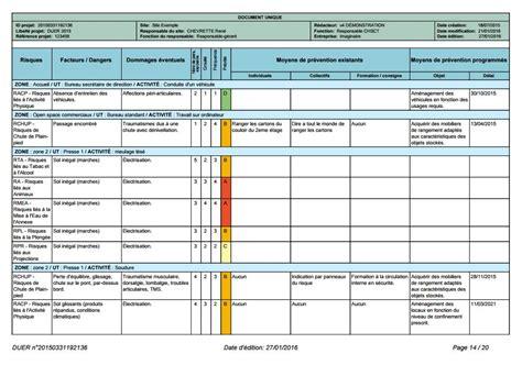modèle fiche de pénibilité logiciel d 233 valuation des risques professionnels