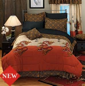 asian inspired classic dragon comforter set with chinese characters new ebay