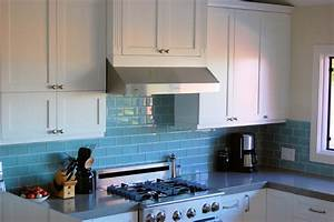 glass tile backsplashes by subwaytileoutlet contemporary With kitchen colors with white cabinets with cobalt blue glass candle holders