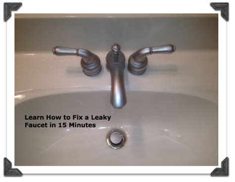 How To Repair Moen Bathroom Sink Faucet by Fix A Leaky Moen Bathroom Faucet In Less Than 15 Minutes