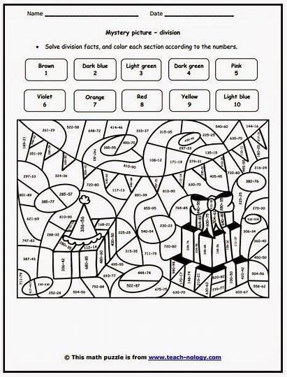 Division Coloring 6th Grade Math Worksheets Sheets