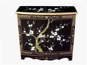 Oriental cabinet, black lacquer bedroom furniture chinese ...