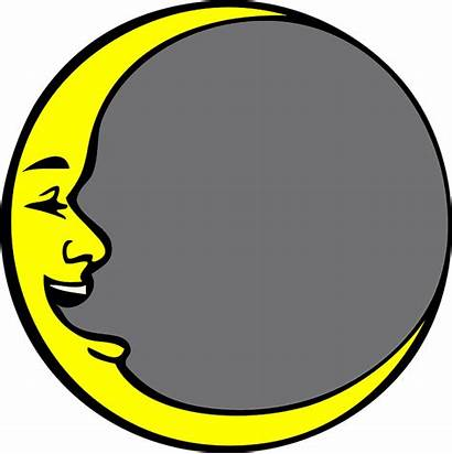 Moon Clipart Face Circle Laughing Yellow Clipground