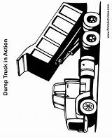 Dump Truck Coloring Pages Printable Trucks Clipart Cliparts Printactivities Clip Lifted Printables Print Library Spy Dots Comments Coloringtop Favorites sketch template