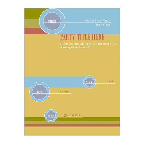 templates  microsoft publisher flyers