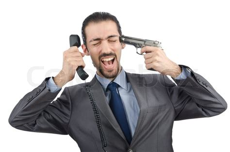 i was on the phone angry businessman killing the phone stock photo colourbox