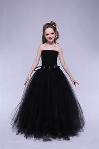 Height Measurement Chart Tulle Flower Girl Dress Black Baby Kids Tutu Dress