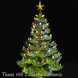 giant ceramic christmas tree 24 inches tall green tree colorful lights texasceramics