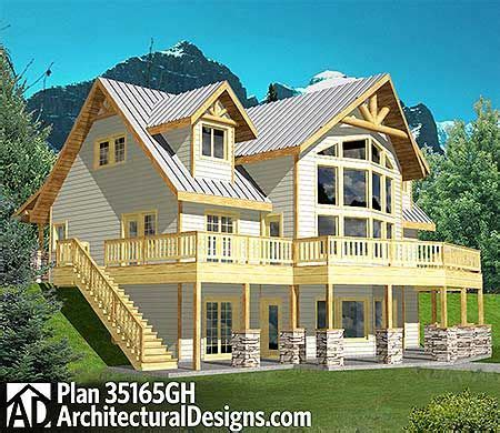 Plan 35165GH: Great Views Coastal house plans House
