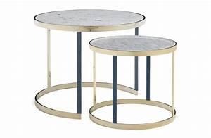 Table Gigogne Marbre : table basse gigogne en marbre blanc amerigo milano ~ Teatrodelosmanantiales.com Idées de Décoration