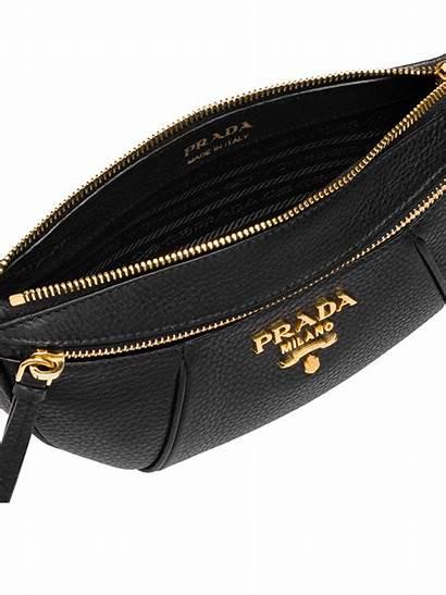 Belt Bag Leather Prada Vitello Pebbled Daino
