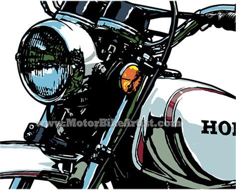 Honda Xl250 Vintage Motorcycle Vector Art Drawing On Wacom