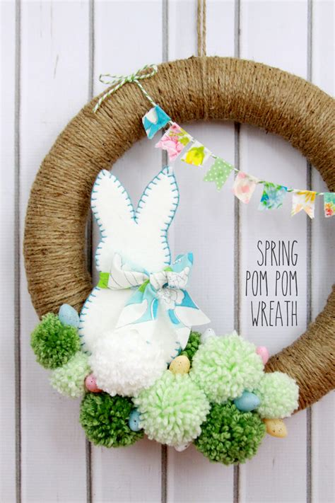 diy wreath ideas diy easter decorations 17 ideas how to make a cute easter door wreath style motivation