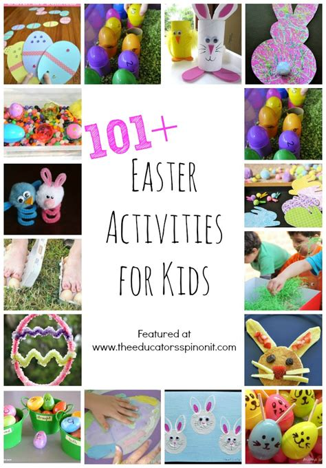 easter activities 101 easter crafts and easter activities for kids the educators spin on it