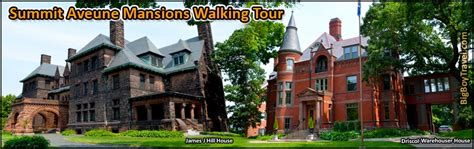 summit avenue walking  map st paul mansions guided