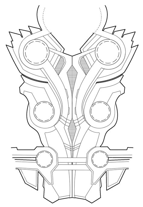 free armor templates october and thors chest armor diagram for rule s thor