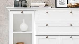 Türen Landhausstil Weiß : highboard landwood schrank anrichte in wei mit 4 t ren ~ Michelbontemps.com Haus und Dekorationen