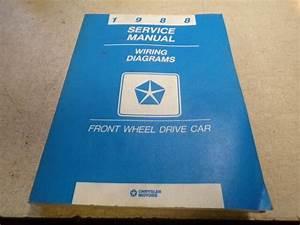 1988 Chrysler Fwd Car Wiring Diagrams Service Manual 81