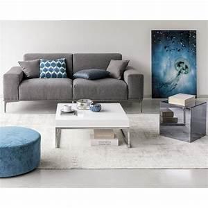 Tapis En Coton : tapis en coton gris 140 x 200 cm feel maisons du monde ~ Nature-et-papiers.com Idées de Décoration