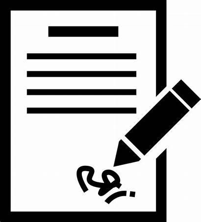 Icon Signature Letter Recommendation Handwritten Transparent Clipart
