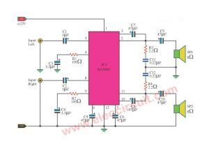 Power Amplifier Circuit Diagram With Pcb Layout