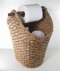 Panier Papier Toilette : id e d coration salle de bain rangement salle de bain et toilettes panier pour les rouleaux ~ Teatrodelosmanantiales.com Idées de Décoration