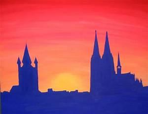 Leinwand Köln Skyline : bild cologne skyline malerei konkret von verena bei ~ Sanjose-hotels-ca.com Haus und Dekorationen