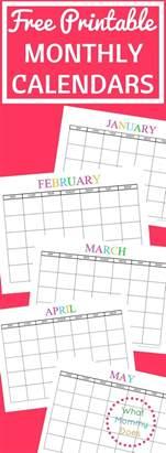 calendar templates ideas pinterest printable