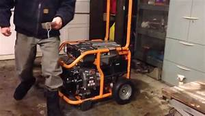 Ridgid Rd6800 - New Generator First Start Up