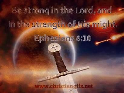 Strong Ephesians Verse Christian Gifs