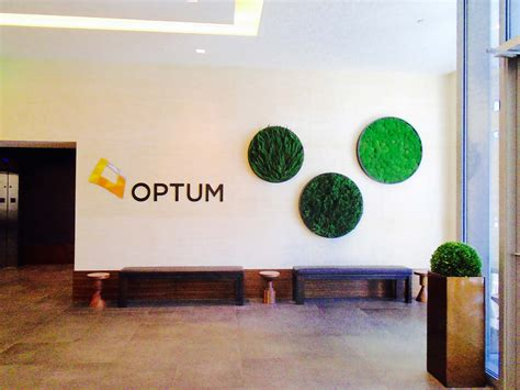 Wall Forest & Moss Installation at Optum's Reception Lobby