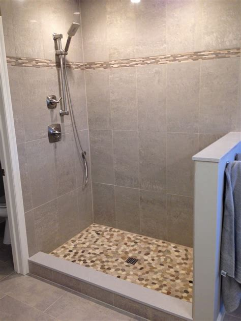 diy tile shower create your own pebble shower floor your projects obn