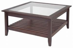 coffee tables ideas square glass top coffee table design With square wood coffee table with glass top