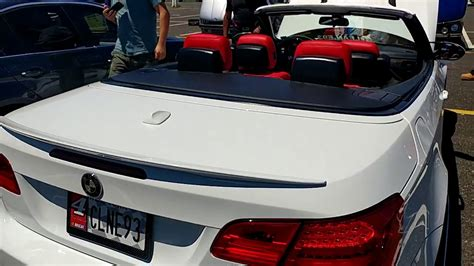 2010 White Bmw M3 Convertible With Red Leather Interior