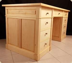 Bureau En Bois Massif : caisson de bureau en bois massif ~ Teatrodelosmanantiales.com Idées de Décoration
