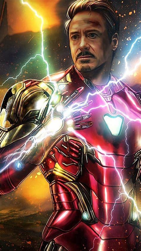 iron man sacrifice snap infinity stones iphone wallpaper