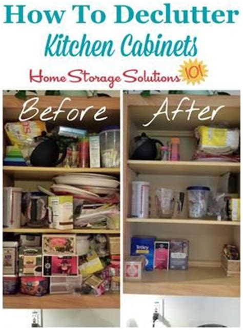 declutter kitchen cabinets  step  step instructions