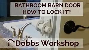 A lock for a bathroom barn door youtube for How to fix a bathroom door lock