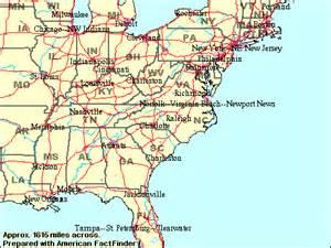 USA Map North Carolina