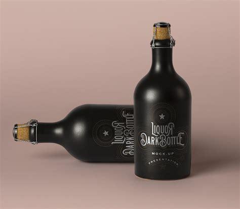 Bucket hat mockup 65438 free download. Free Dark Liquor Bottle Mockup | Mockuptree