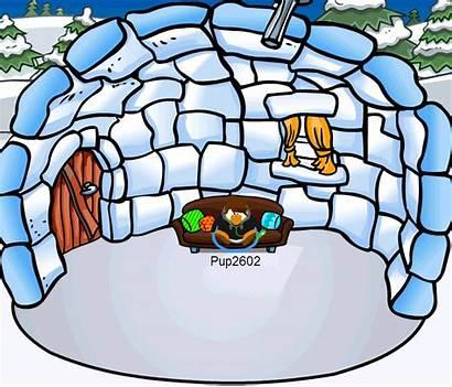 Igloo Penguin Club Inside Clipart Igloos Cliparts
