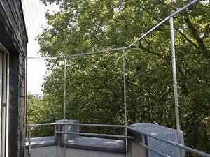 Katzenschutznetz Ohne Bohren : montage von katzenschutznetz an balkon oder terrasse ~ Watch28wear.com Haus und Dekorationen