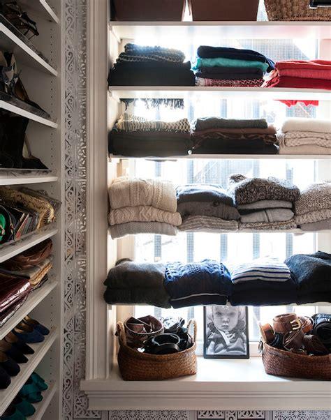 sweater shelves eclectic closet closette